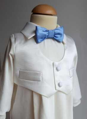 Baptism suit with a silk waistcoat for boys fine christening clothes