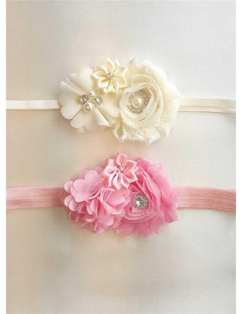 Dopklänning med handgjord rosa ros