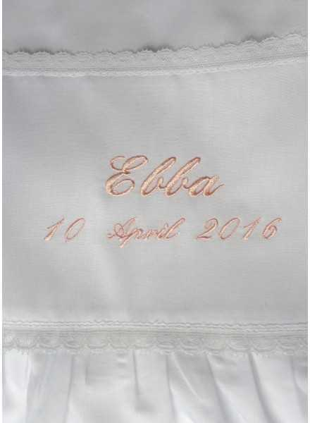 christening gown in cotton Grace-Memories with baptism embroidery