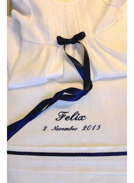 Christening gown Grace-Tradition navy look
