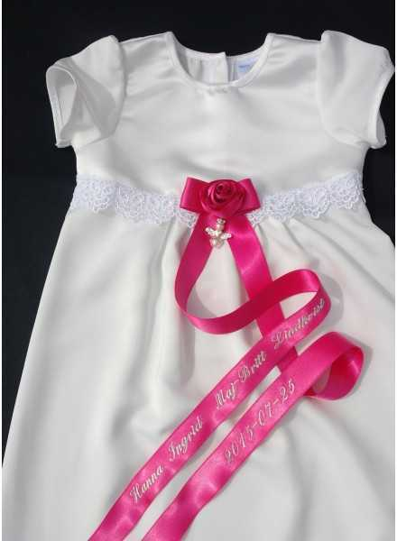 Christening gown Grace-Princess with satin fabric