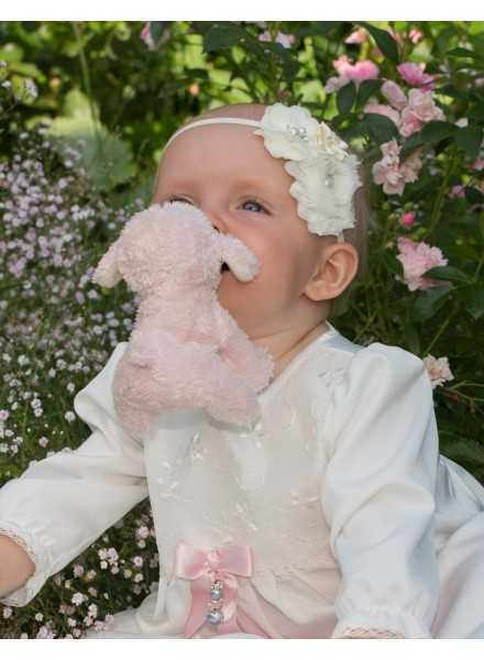 Christening gown Grace-Sofia with lovely lace off white unisex model