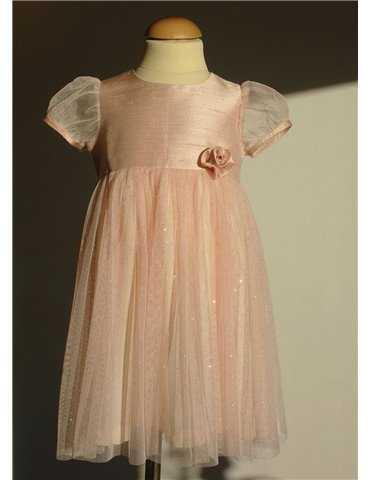 Dåpskjole med romantisk utseende for jenter