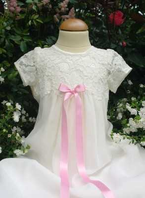 Christening gown Grace-Minna with embroidery