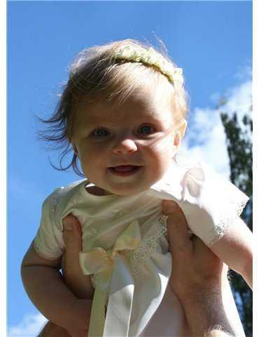 Dopklänning lyxig spets i kunglig stil