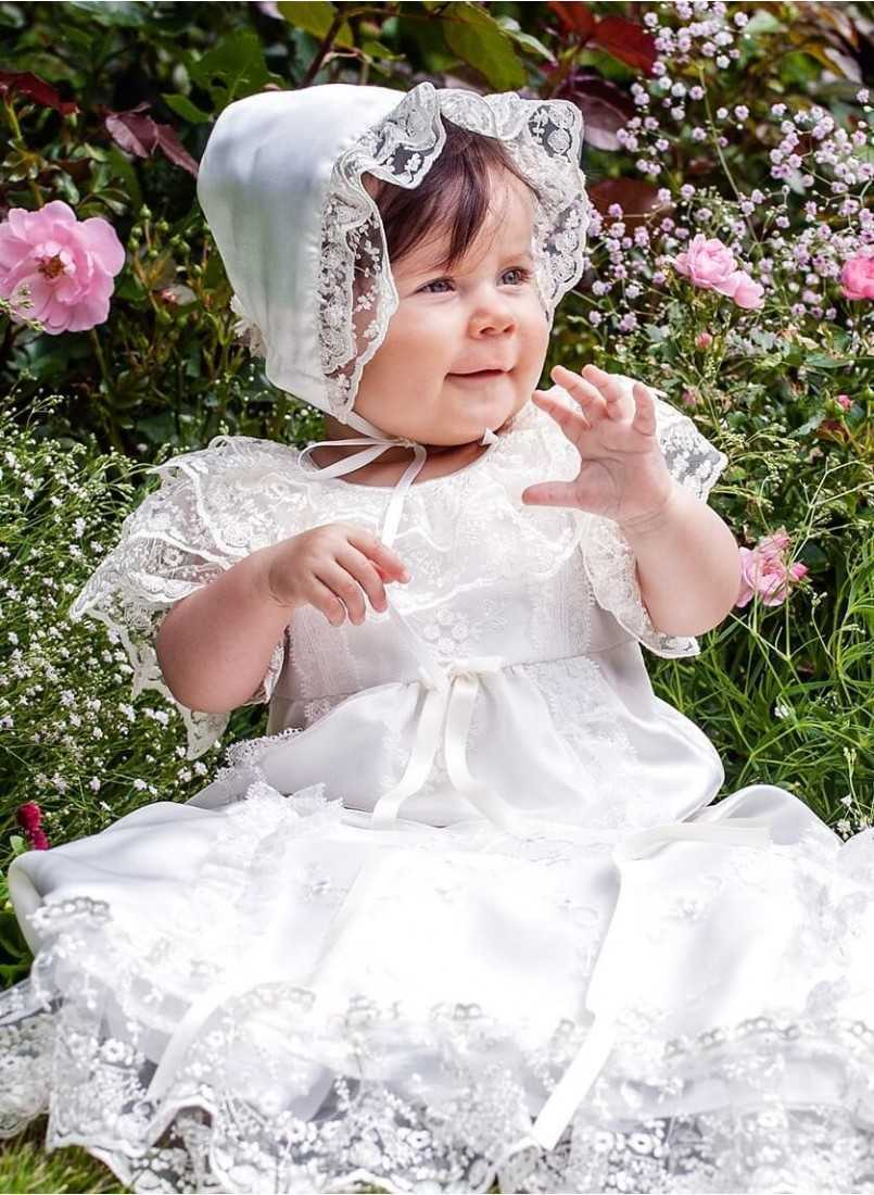 Christening gown in royal style