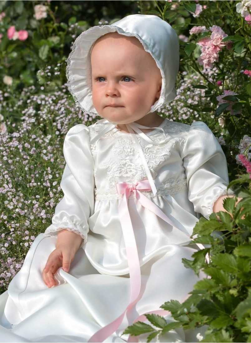 pretty girl in baptism clothes