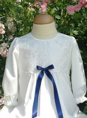 christening gown in off white lace