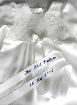 White Baptism gown with luxurious baptismal bow