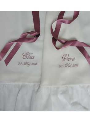 beautiful baptismal embroidery for twins