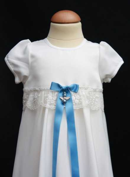 Christening gown Grace-Sessan in tulle lace in white