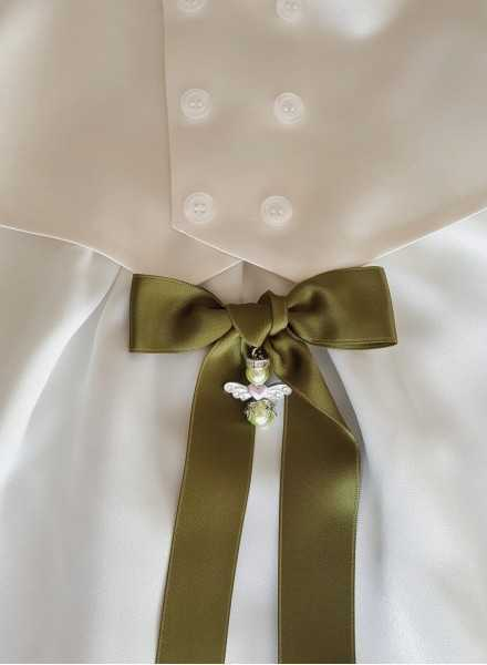 Christening gown with silk vest