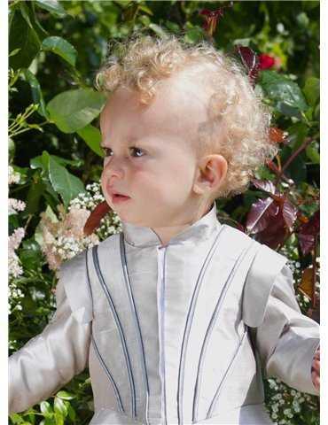 summer baptism with beautiful baptismal cloting