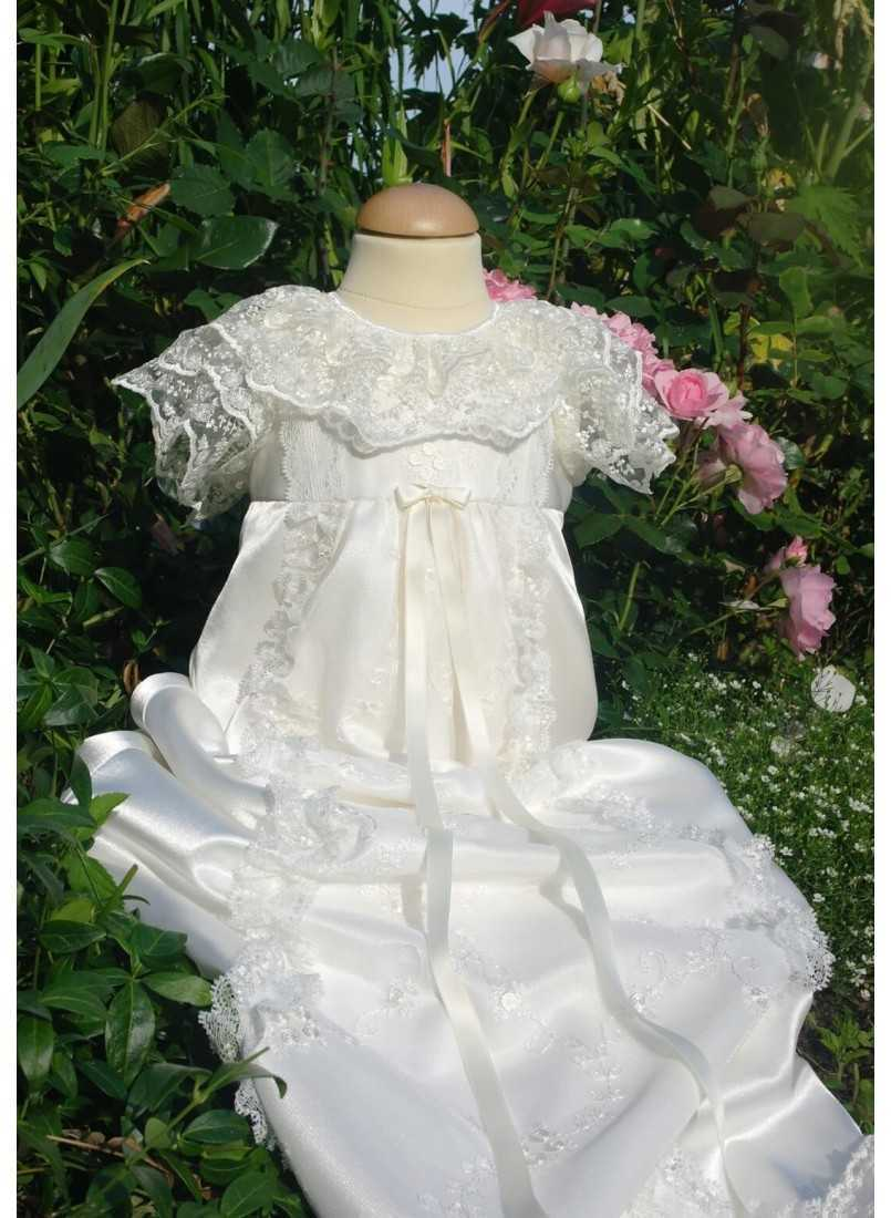 luxurious long christening gown