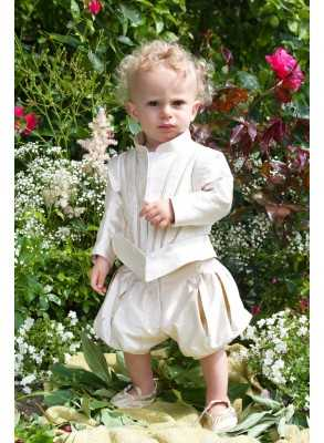 Wonderful christening clothes Prince Suit Grace Edgar in silk fabric in royal style