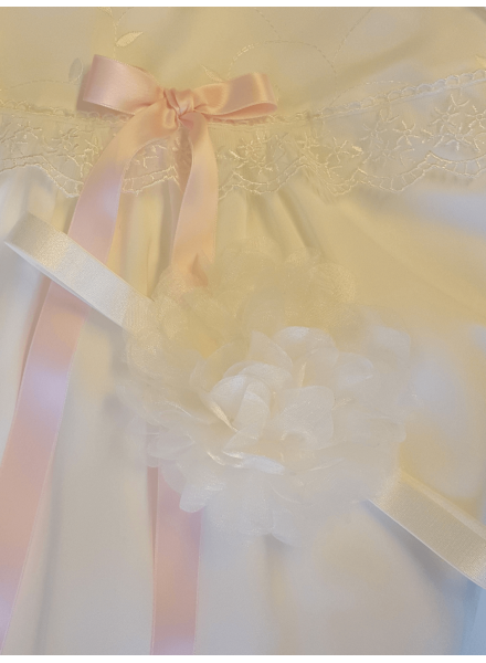 organza rose Headband for baptism and party