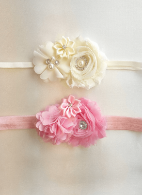 Diadem Grace-Off White rosdiadem
