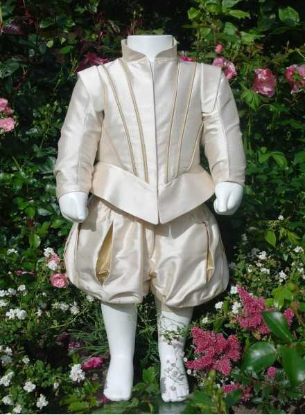 christening clothes Prince Suit Grace Edgar in silk fabric in royal style