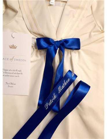 Dopklänning Grace-Tradition Antik marinbla rosett
