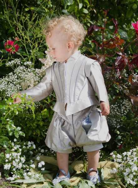 luxurious prince suit in silk exclusive baptismal clothing in royal style for boys