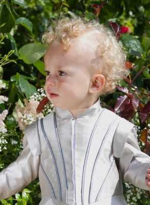 Prince Costume in silk exclusive baptismal clothing in Swedish royal style