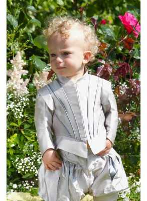 baptism  suit in silk for boys