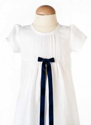 white Swedish baptism clothes in close-up