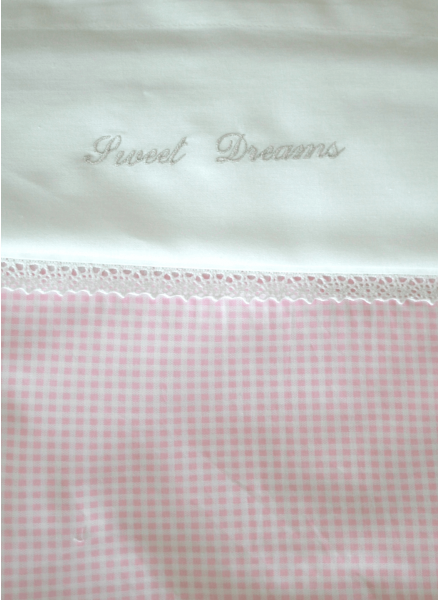 Crib bedding set with own choice of embroidery