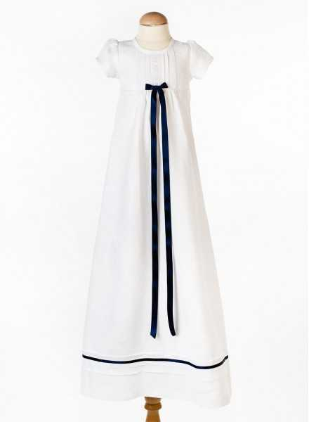 Christening gown Grace-Tradition Marin in white linen long skirt