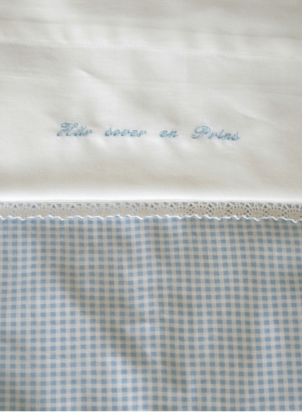 Bed linenset for cot bed with embroidery