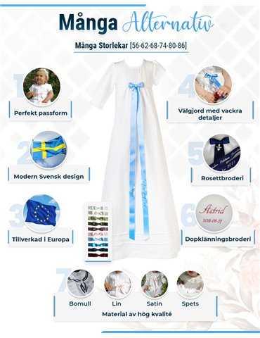 Rosa Babyfilt med prickar för flickor