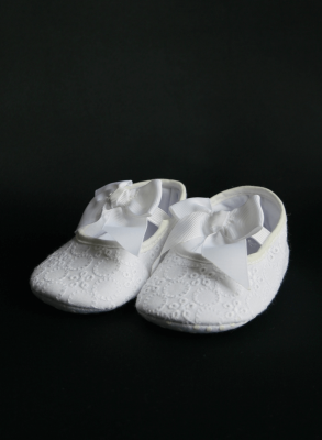 Baptism booties in Silk