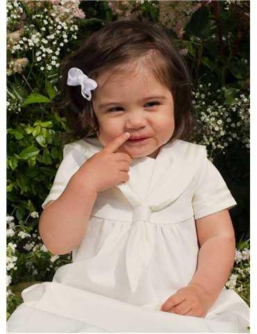 Dopklänning med blå dopband