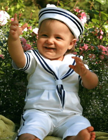 Sjömanskostym till pojkar för dop