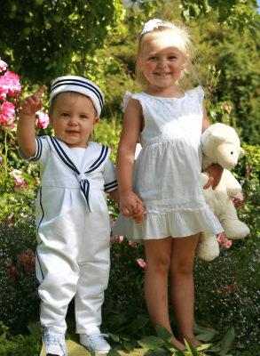 nice Baptism clothes for siblings