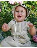Dopklänning i vitt i lin för flickor