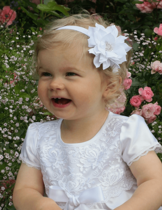 Diadem med strassdetaljer för flickdop