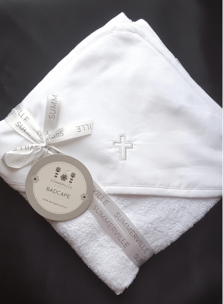 Towel with embroidered orthodox cross