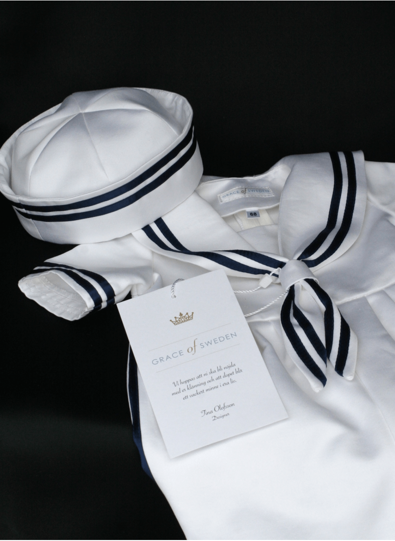 Sailor suit with sailor hat for baby