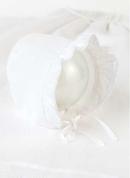 Christening gown Grace-Philip in off white with bonnet