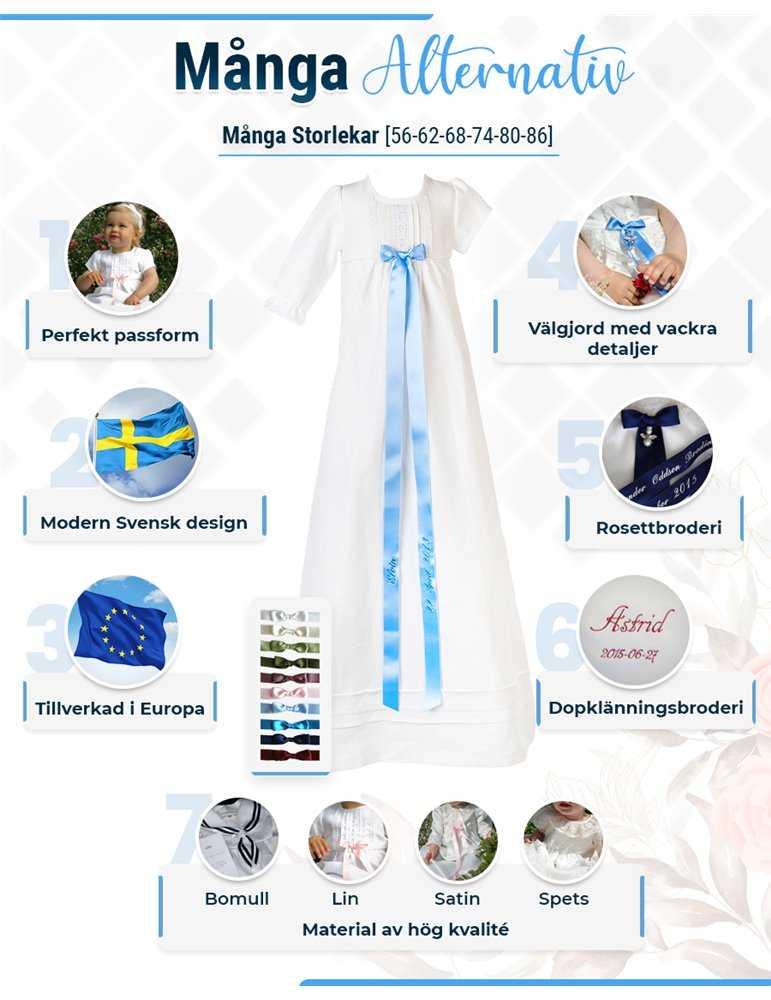Dopklänning med unik design
