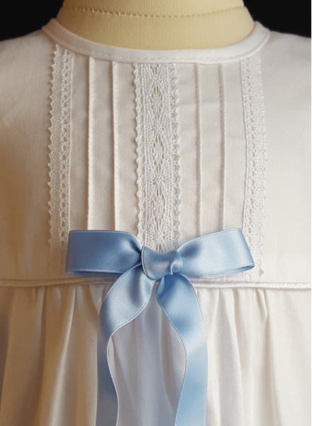 Christening gown Tradition in white cotton