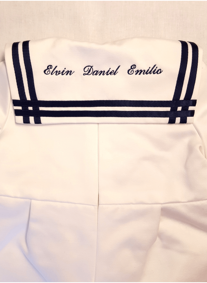 sailor suite with embroidery for guy