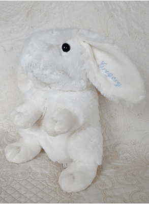 Baptism gift, embroidery of cuddly toys