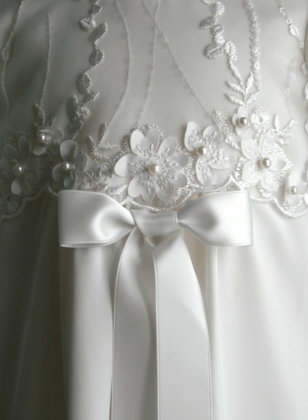 Christening gown Grace-Princess with beautiful lace and satin fabric
