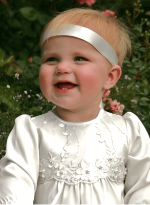 Headband with cross for Christening