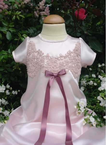 Christening gown Grace-Julia pink baptism gown