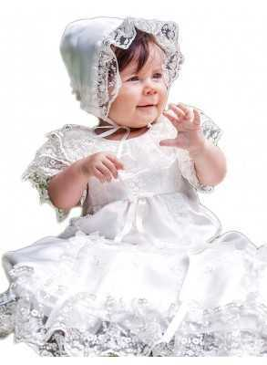 exclusive christening gown for cute girl