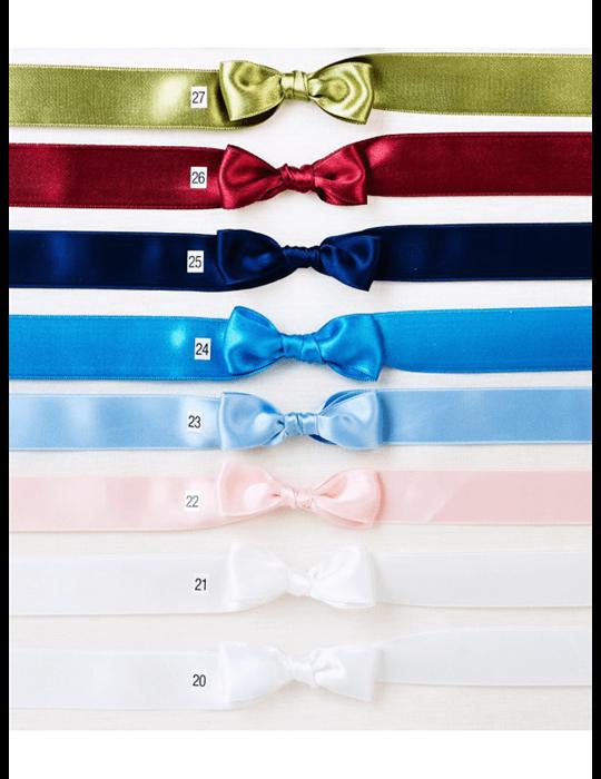 modern vit Dopklänning i bomulls-satin