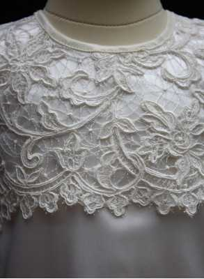 Christening gown Grace-Cecilia in off white luxurious lace unisex gown